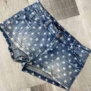 Forever21 Star Jean short shorts